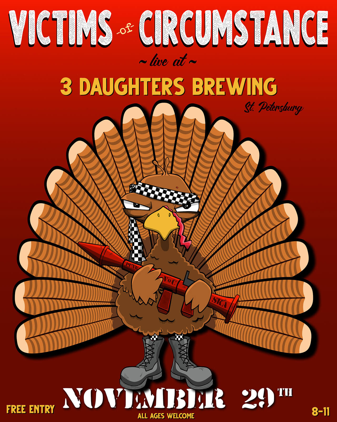 Nov. 29 @ 3 Daughters Brewing